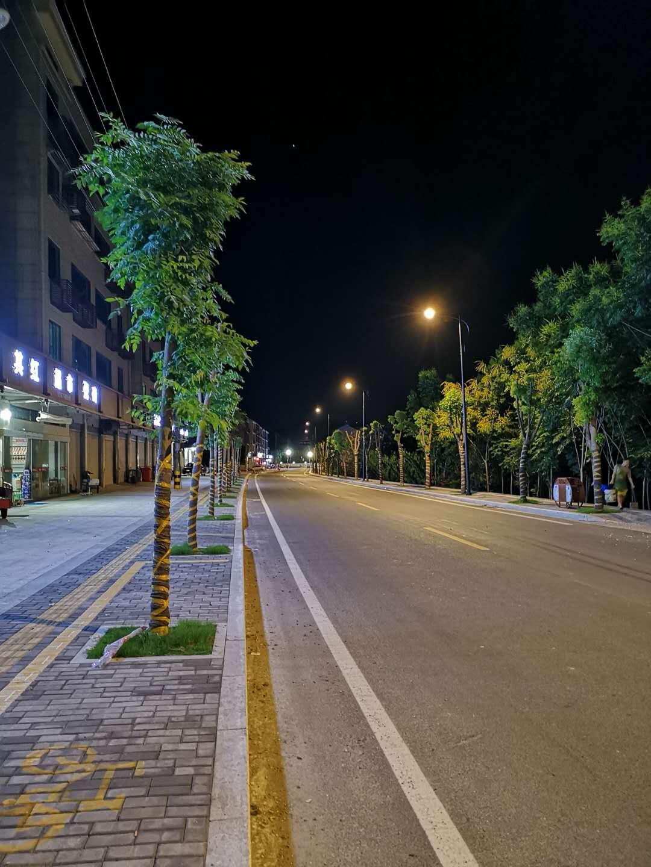 金庭镇小城镇改造后的美丽夜景