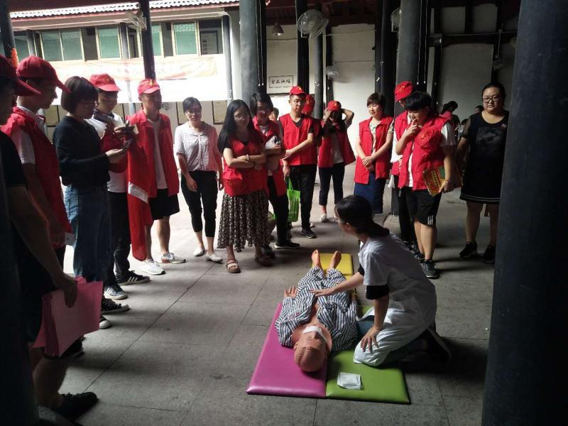 谷来镇红十字会联合卫生院开展志愿者心肺复苏培训