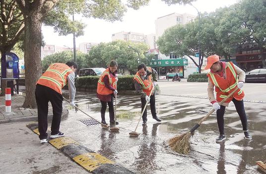 普陀:给城市洗把脸 为创城加把油