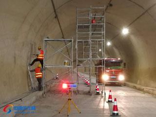巾子峰隧道美化、亮化工程有序推进