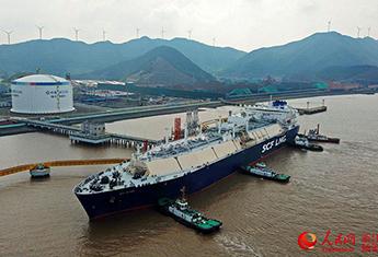 浙江LNG年度外输量和卸载量均突破400万吨