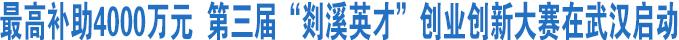 """第三届""""剡溪英才""""创业创新大赛在武汉启动"""