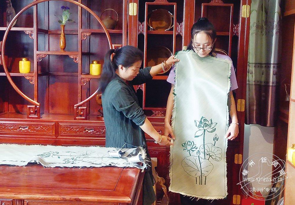 用竹子也能做旗袍