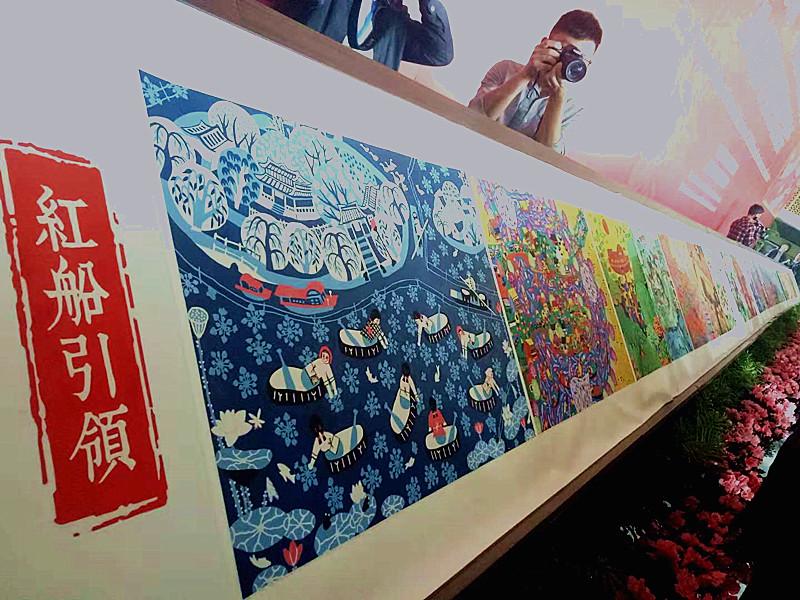 """在朋友圈看一场""""画展""""!第七届秀洲·中国农民画艺术节开幕"""