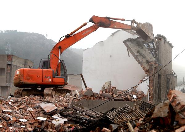 152000㎡!今天,玉环再次集中拆除老旧工业点违法建筑