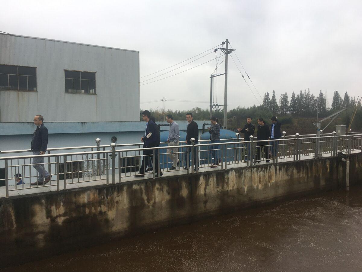 中科院专家踏看集污水处理厂
