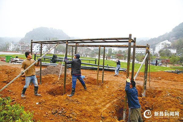 县青少年活动中心户外营地建设顺利