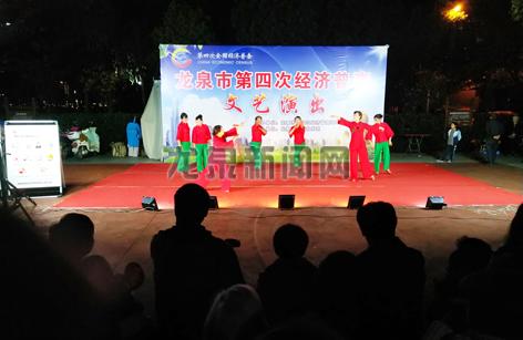 市经济普查领导小组办公室组织的文艺演出在东升社区举行