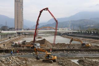 松源溪流域综合治理工程加速建设