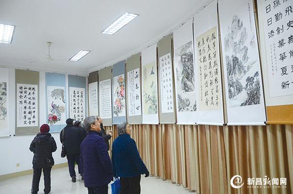 庆祝改革开放40周年书画展举行