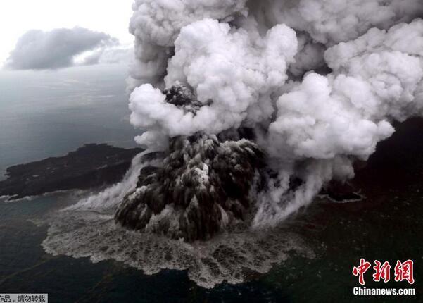 印尼海啸或为火山喷发引起