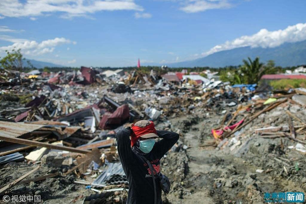 印尼发布海啸灾区极端天气预警