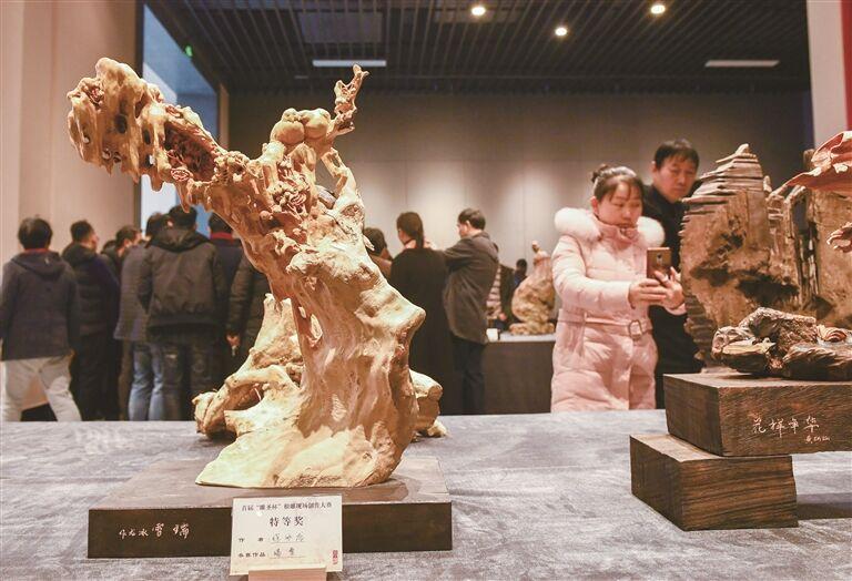 中国(嵊州)根雕艺术精品博览会落幕