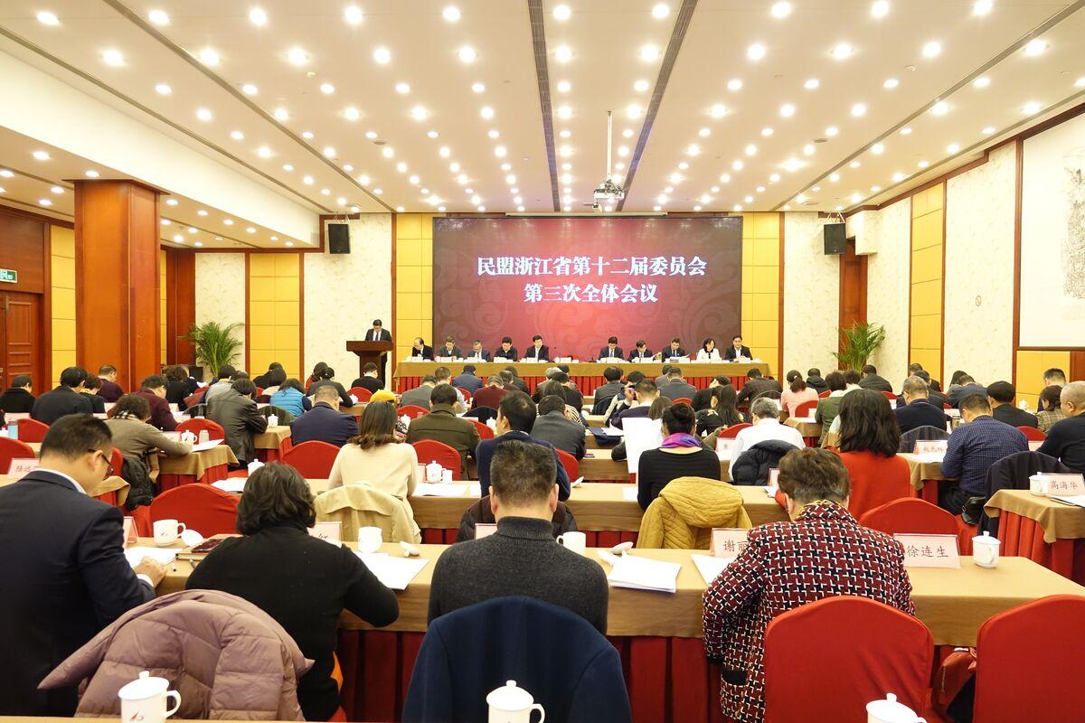 民盟浙江省第十二届委员会第三次全体会议在杭州举行
