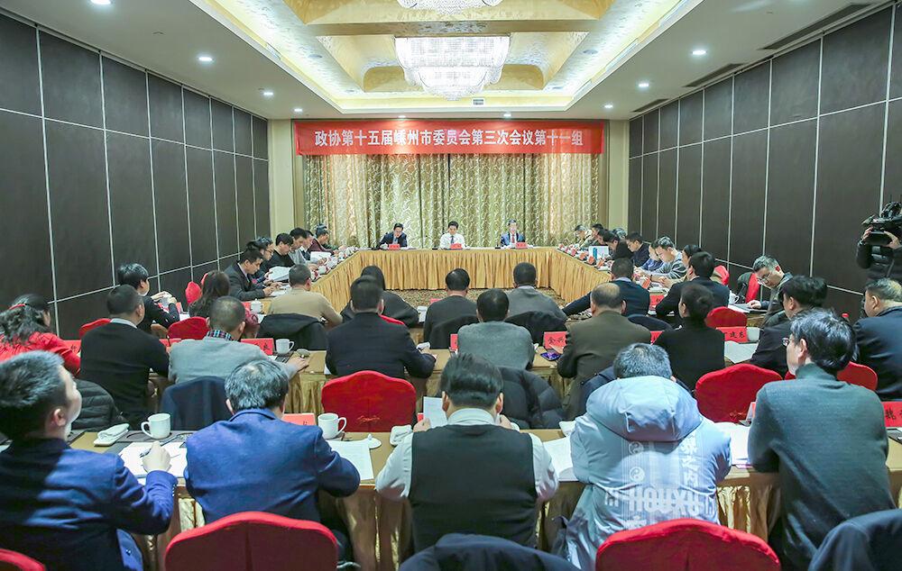 严钢参加人大第二代表团审议和政协第十一组讨论