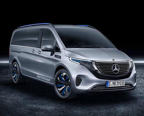 奔驰公布EQV概念MPV 将亮相日内瓦车展