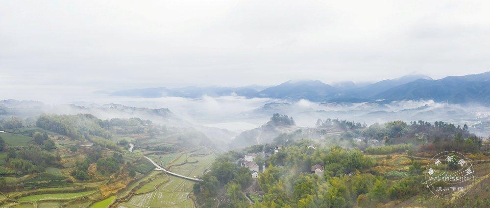 部分地区云雾缭绕 宛如仙境