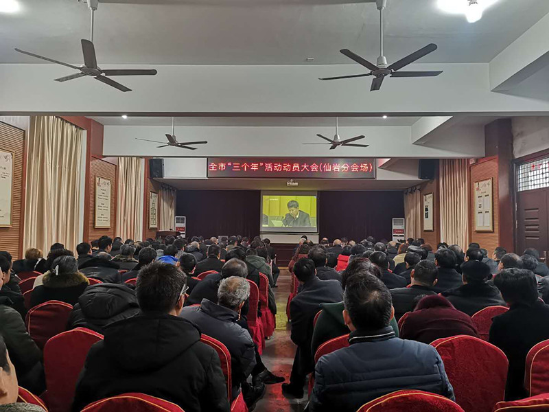 """仙岩镇组织参加全市""""三个年""""活动动员大会"""