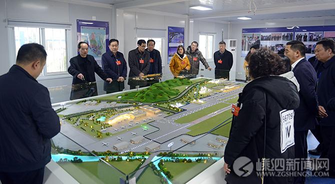 我县代表团参观市重点项目建设感受^新区速度 ̄