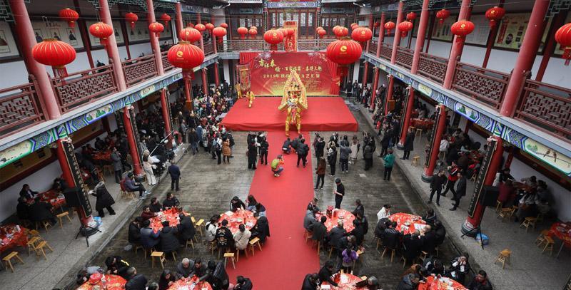 泰顺三魁镇:百家宴里笑开怀 传统元宵味正浓