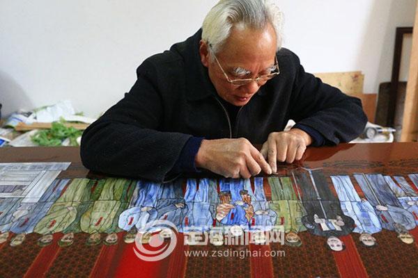 耗时两年多 螺钿镶嵌大作献礼新中国成立70周年