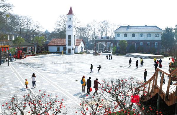 庾村广场凸显民国风情