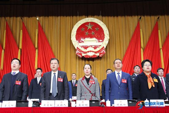 县第十六届人民代表大会第三次会议胜利闭幕