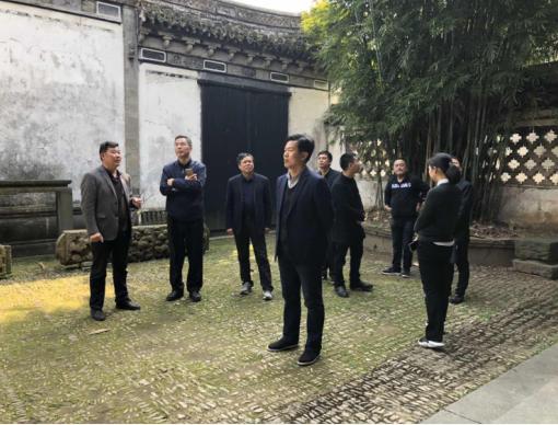 省人大副秘书长张国强考察走访崇仁古镇