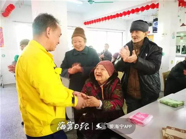 """""""中国好人""""为海宁养老服务中心献爱心"""