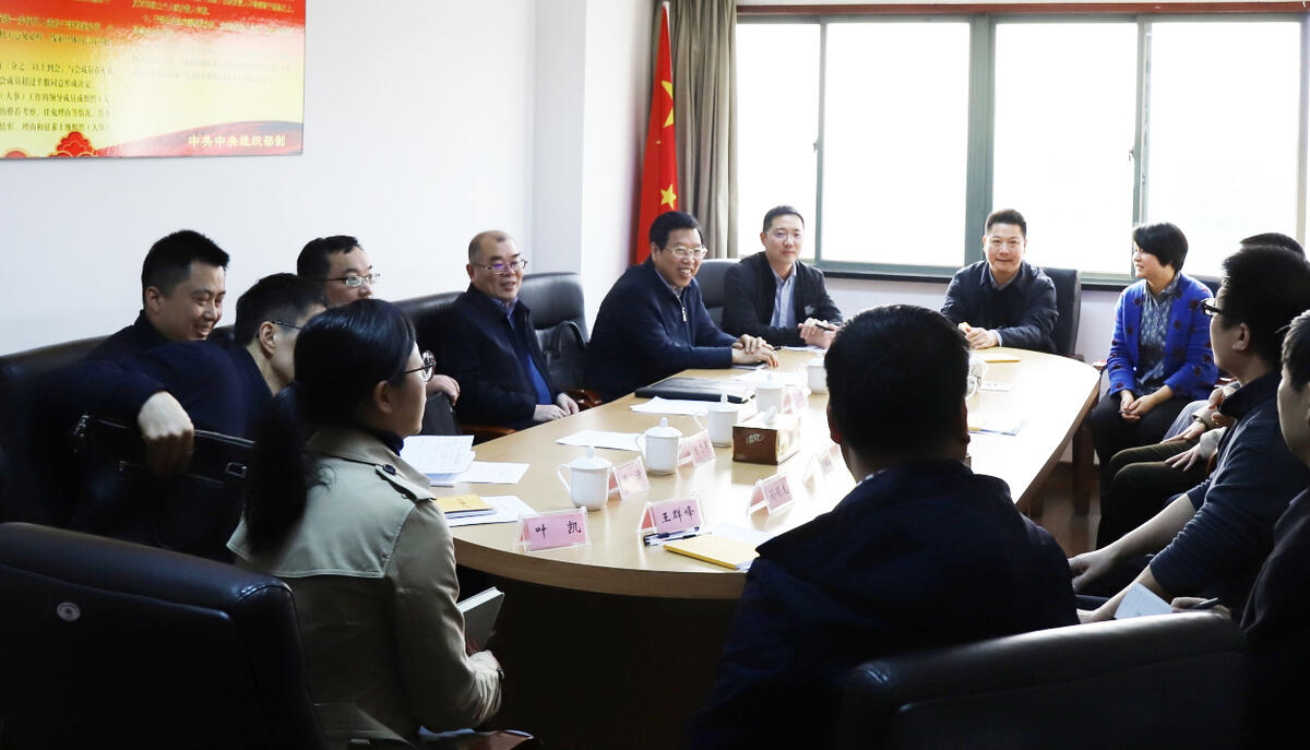 省委常委、宣传部长朱国贤到省皇家赌场手机版网站走访调研