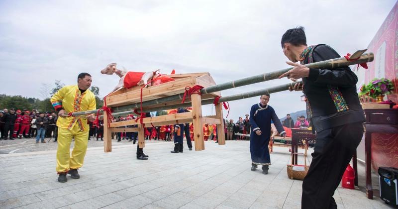武义畲乡群众迎接��三月三��