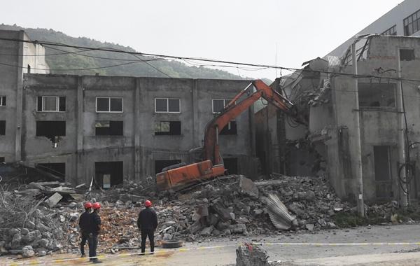 大麦屿:小陈岙老旧工业点拆违进入收尾阶段