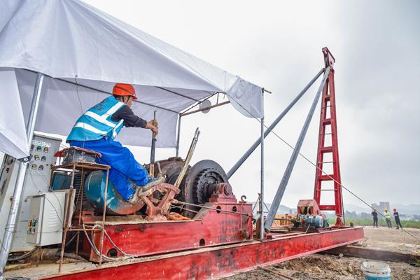 首桩开钻! S226(76省道)明升龙溪至坎门段改建工程正式动工