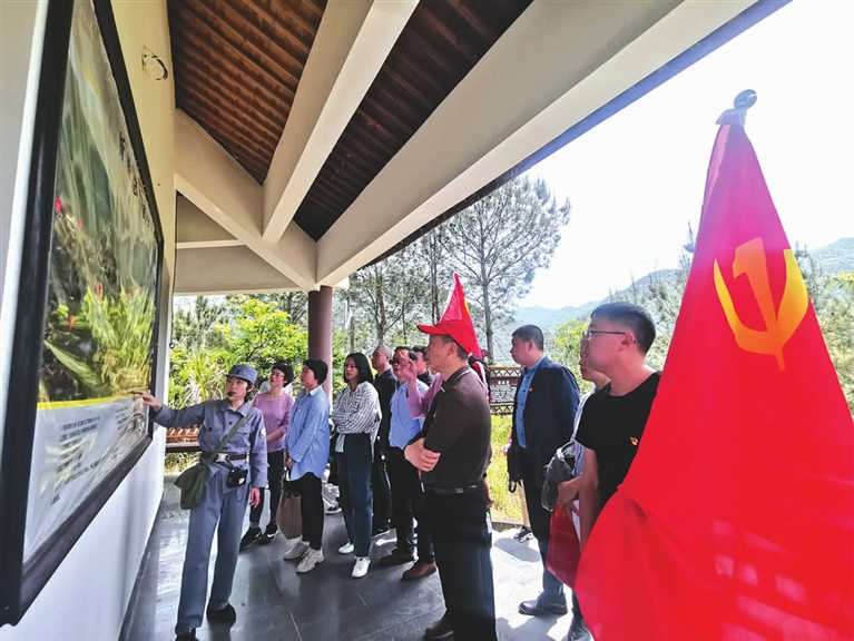 丽水市生态环境局龙泉分局组织党员干部前往云和县小顺村爱国...