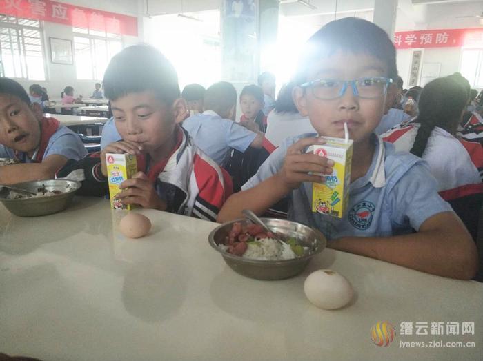 一蛋一奶!缙云县实施义务教育阶段营养改善提升工程,惠及7901名学生