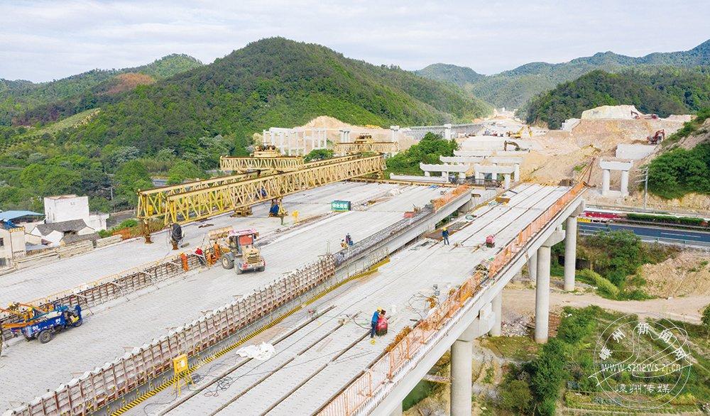 杭绍台高速嵊州段新进展