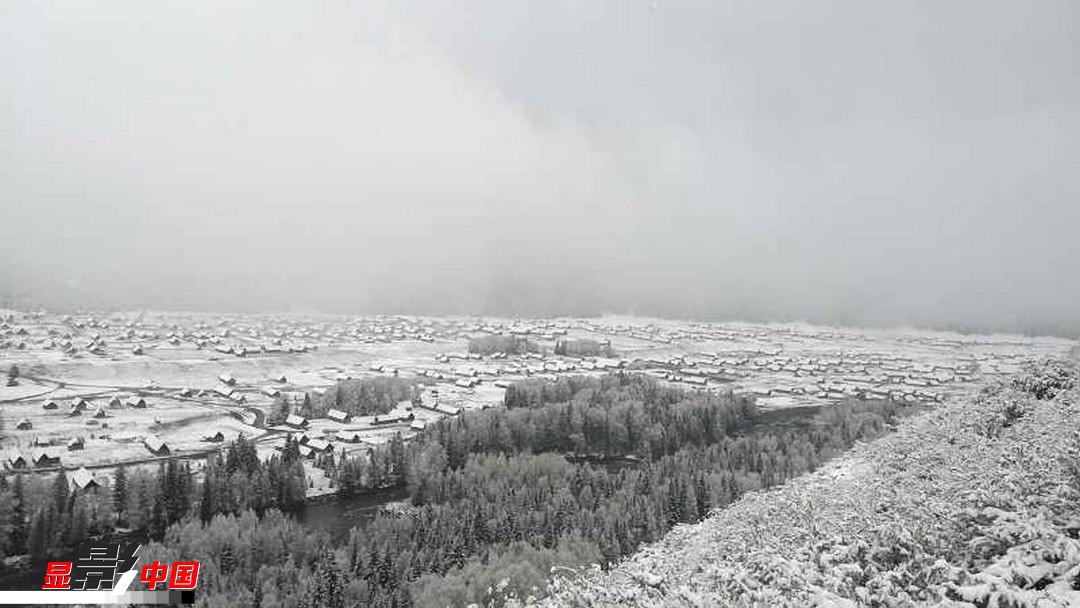 风景如画 喀纳斯禾木迎立夏后首场降雪