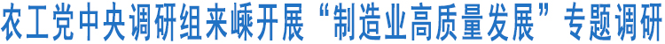 """农工党中央调研组来嵊开展""""制造业高质量发展""""专题调研"""