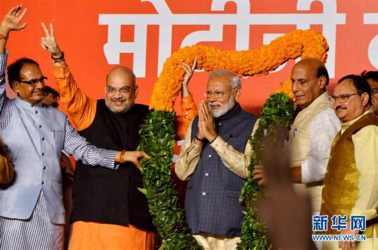 印度人民党在全国大选中获胜