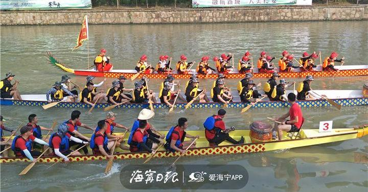 震撼!千年习俗再现,海宁龙舟竞渡大运河