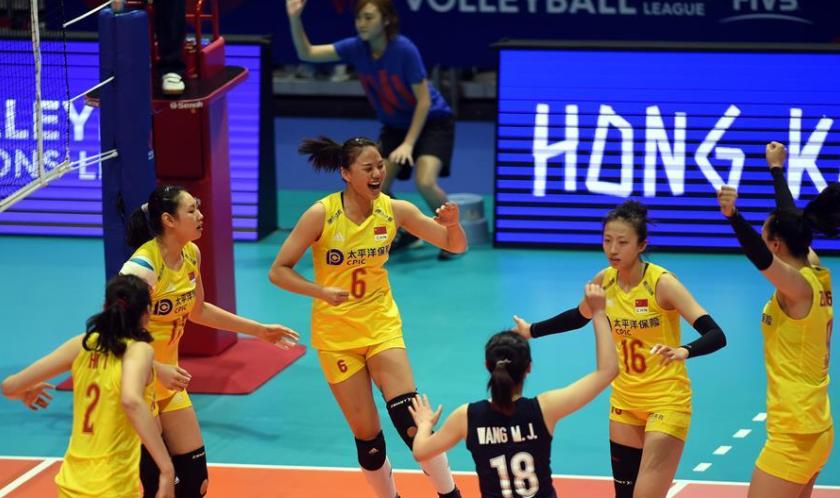 世界女排联赛:中国队胜荷兰队获两连胜