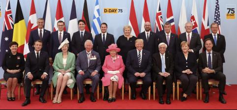 诺曼底登陆75周年纪念活动在法国举行 多国领导人出席