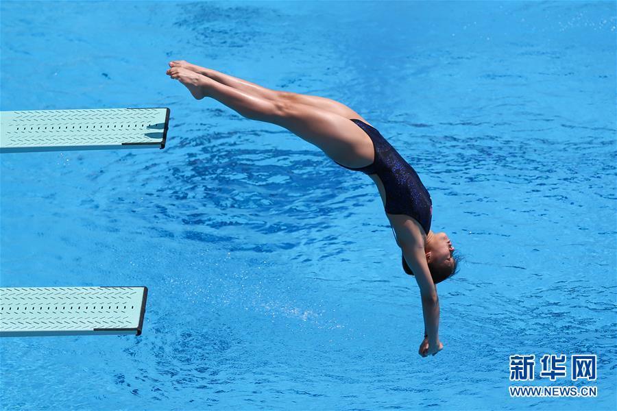 跳水――女子1米板决赛:中国选手包揽金银牌