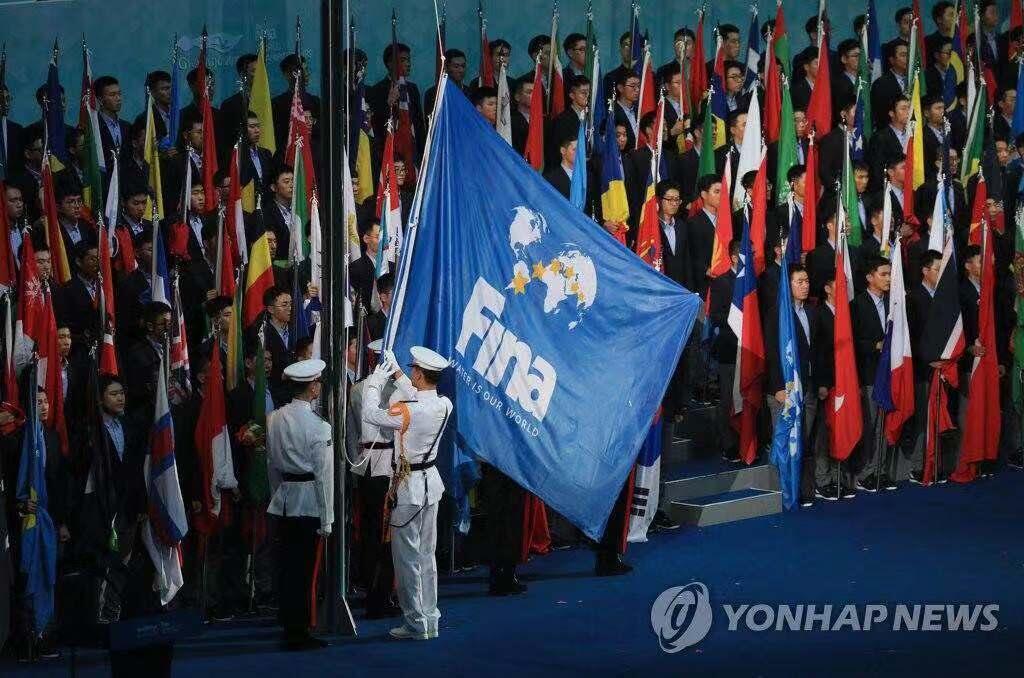 韩国光州游泳世锦赛 中国队以16金列金牌榜榜首