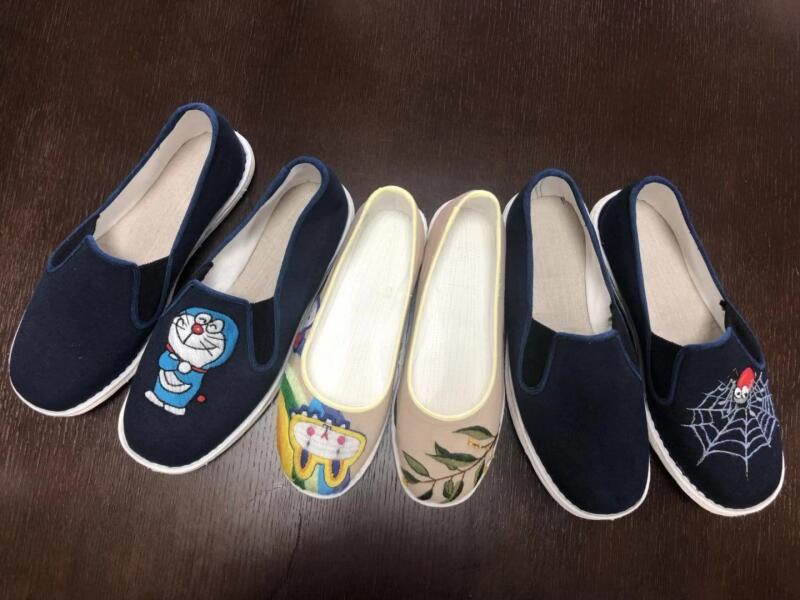 60多名中职教师为合村绣花鞋做设计