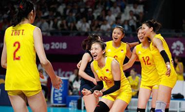 中国女排公布奥运资格赛14人名单
