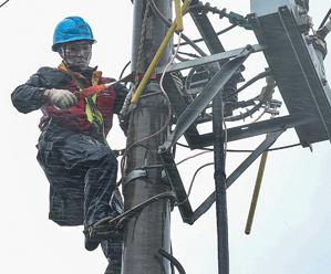 岱山电力紧急抢修力保全县人民正常用电