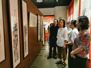 """""""我和我的祖国""""海曙——庆元山海协作文化走亲书画展举行"""