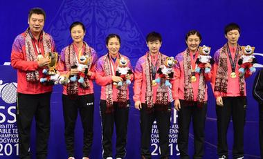 乒乓球亚锦赛中国女团实现七连冠