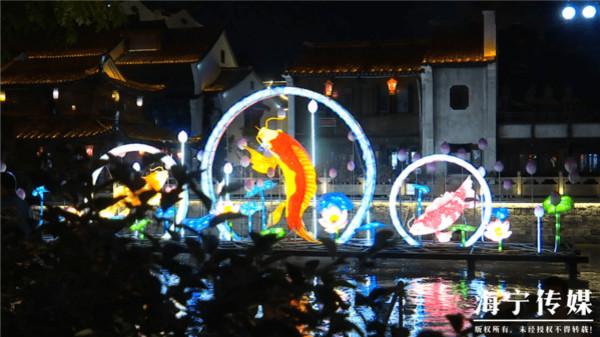 """海寧:南關廂華燈溢彩 35名留學生嘗""""中秋味"""""""